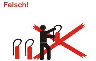 Benutzte Feuerlöscher nicht wegstellen